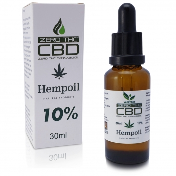 CBD Hemp Oil 10% Cero THC 30ml