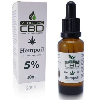 CBD Hemp Oil 5% Cero THC 30ml